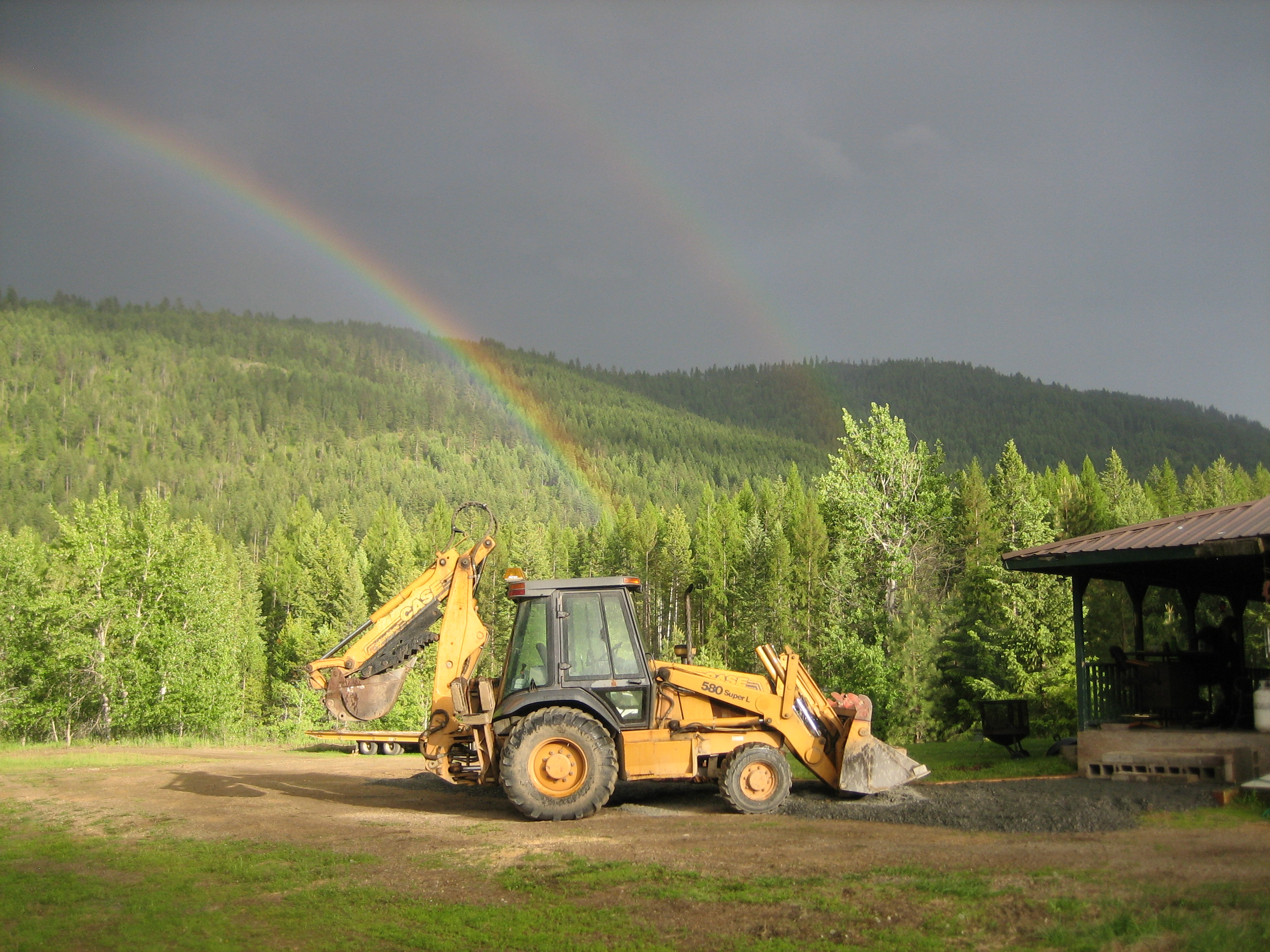backhoe rainbow